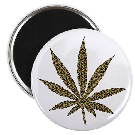 "Camouflage Weed Leaf 2.25"" Magnet (100 pack)"