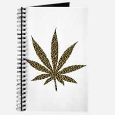 Camouflage Weed Leaf Journal