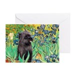 Irises / Cairn (#17) Greeting Card