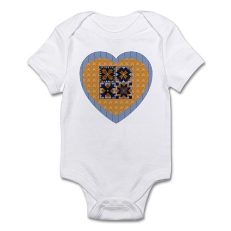 Quilt Heart Infant Creeper