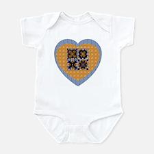 Quilt Heart Infant Creeper