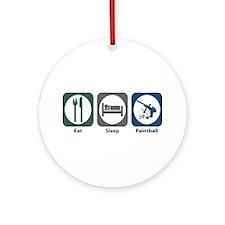 Eat Sleep Paintball Ornament (Round)