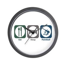 Eat Sleep Paintball Wall Clock