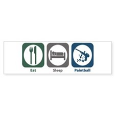 Eat Sleep Paintball Bumper Bumper Sticker