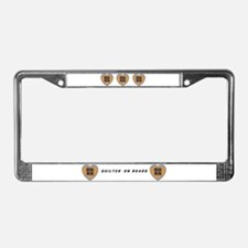 Quilt Heart License Plate Frame