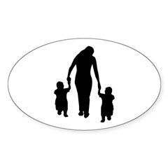 Mother and Children Decal