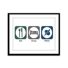 Eat Sleep Paint Framed Panel Print