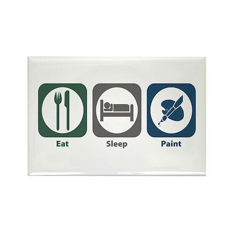 Eat Sleep Paint Rectangle Magnet (100 pack)