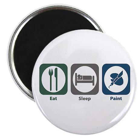 "Eat Sleep Paint 2.25"" Magnet (10 pack)"