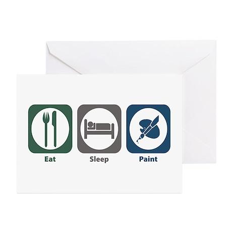 Eat Sleep Paint Greeting Cards (Pk of 10)