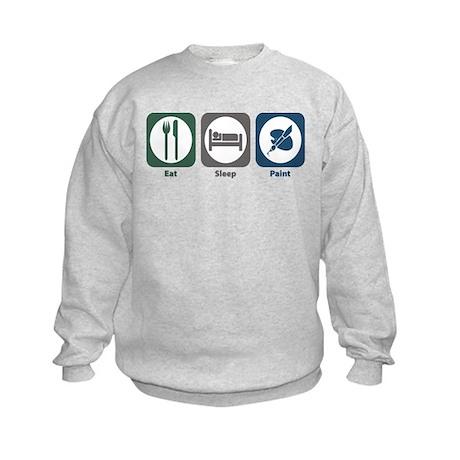 Eat Sleep Paint Kids Sweatshirt