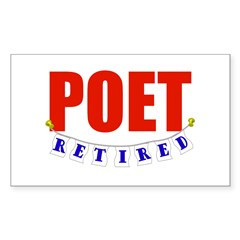 Retired Poet Rectangle Decal