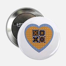 Quilt Heart Button