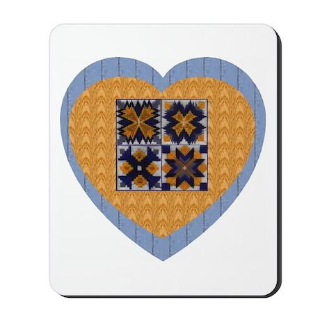 Quilt Heart Mousepad