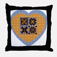 Quilt Heart Throw Pillow