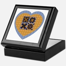 Quilt Heart Keepsake Box
