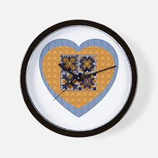 Quilt Heart Wall Clock