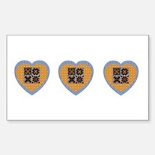 Quilt Heart Rectangle Decal