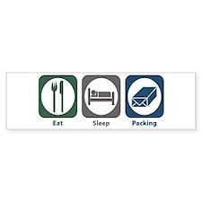 Eat Sleep Packing Bumper Bumper Sticker