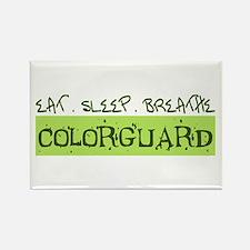 EAT . SLEEP . BREATHE Colorguard Rectangle Magnet