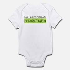 EAT . SLEEP . BREATHE Colorguard Infant Bodysuit