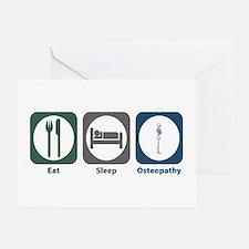 Eat Sleep Osteopathy Greeting Card
