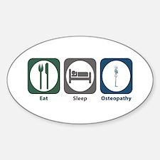 Eat Sleep Osteopathy Oval Decal