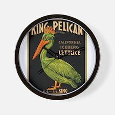 King Pelican Wall Clock