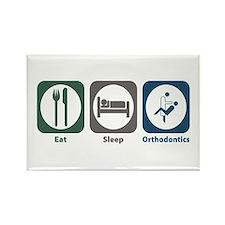 Eat Sleep Orthodontics Rectangle Magnet