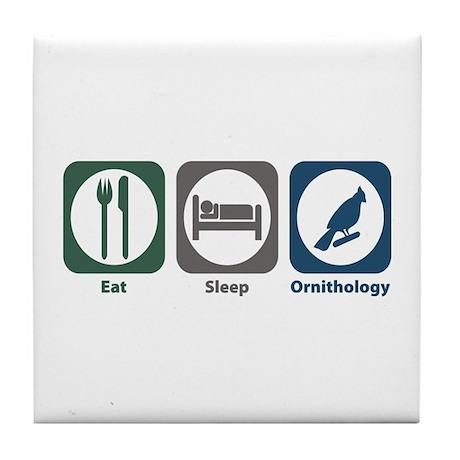 Eat Sleep Ornithology Tile Coaster