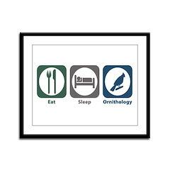 Eat Sleep Ornithology Framed Panel Print