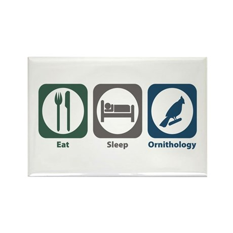 Eat Sleep Ornithology Rectangle Magnet