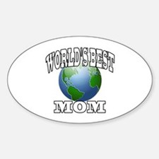WORLD'S BEST MOM Oval Decal