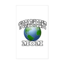 WORLD'S BEST MOM Rectangle Decal