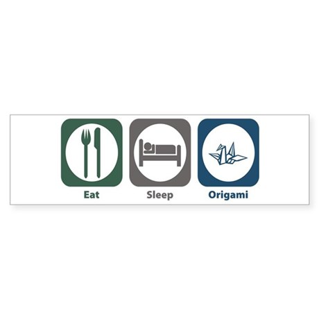 Eat Sleep Origami Bumper Sticker