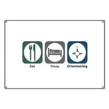 Eat Sleep Orienteering Banner