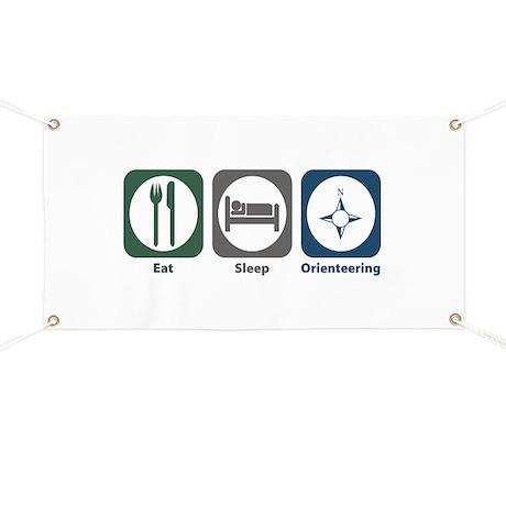 Eat Sleep Orienteering Banner