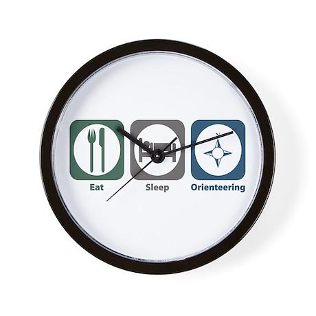 Eat Sleep Orienteering Wall Clock