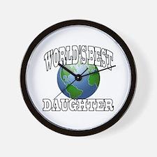 WORLD'S BEST DAUGHTER Wall Clock
