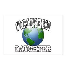 WORLD'S BEST DAUGHTER Postcards (Package of 8)