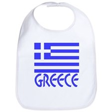Greek Flag & Word Bib