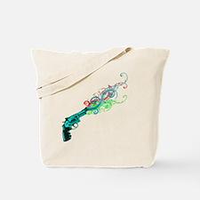swirly rainbow gun Tote Bag