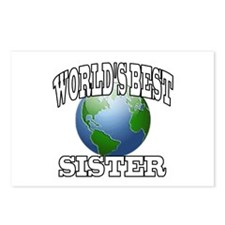 WORLD'S BEST SISTER Postcards (Package of 8)