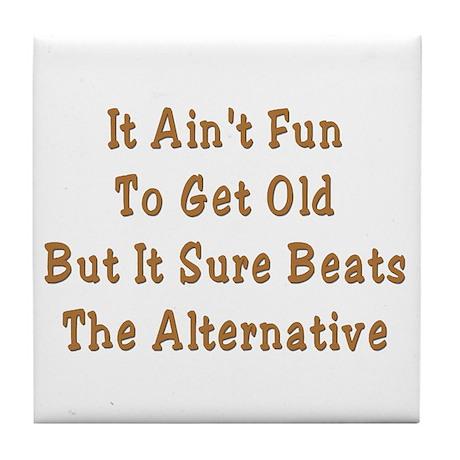 Aging Ain't Fun Grandpa Tile Coaster