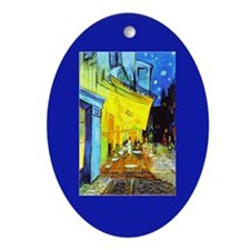 Van Gogh Cafe Terrace At Night Oval Ornament