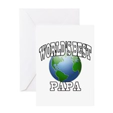 WORLD'S BEST PAPA Greeting Card