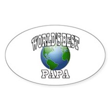 WORLD'S BEST PAPA Oval Decal