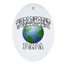 WORLD'S BEST PAPA Oval Ornament