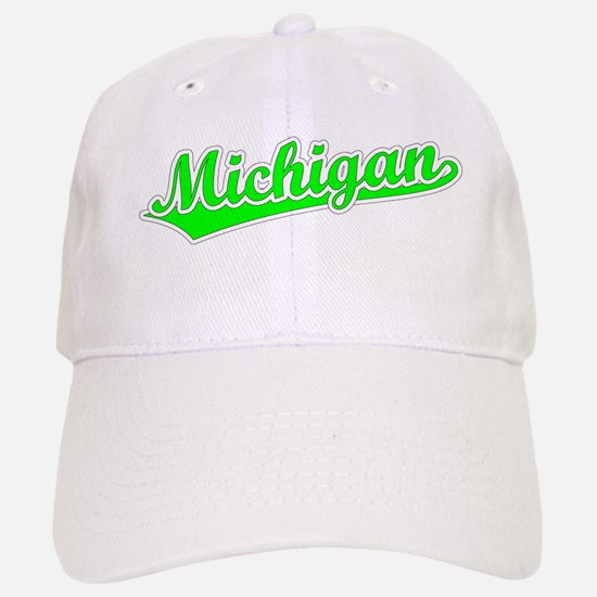 Retro Michigan (Green) Baseball Baseball Cap