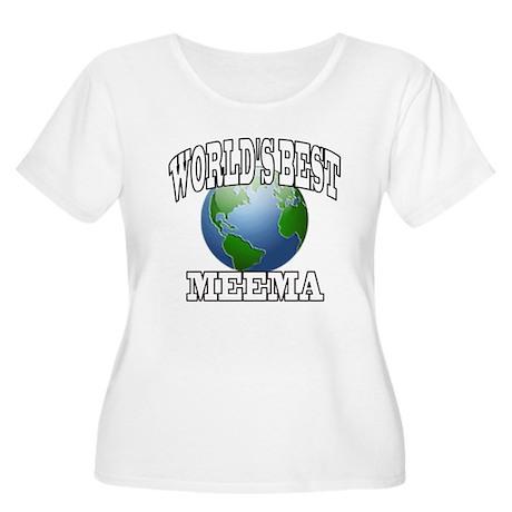WORLD'S BEST MEEMA Women's Plus Size Scoop Neck T-